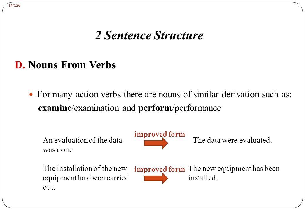 2 Sentence Structure E. Modifiers 1- Adjectival modifiers: