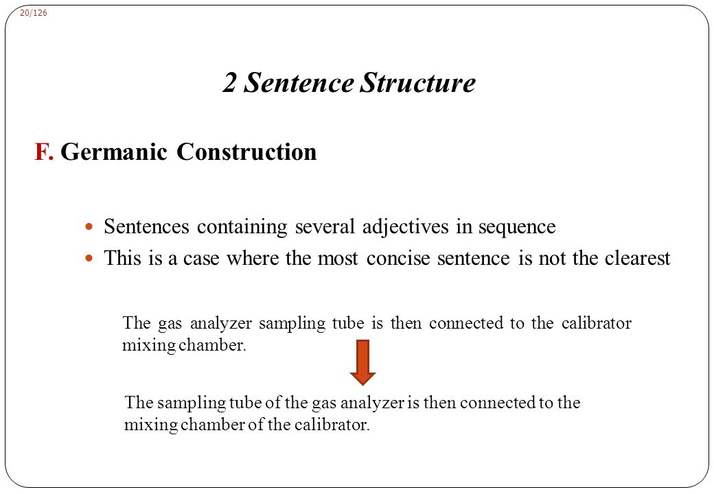 2 Sentence Structure G. Punctuation