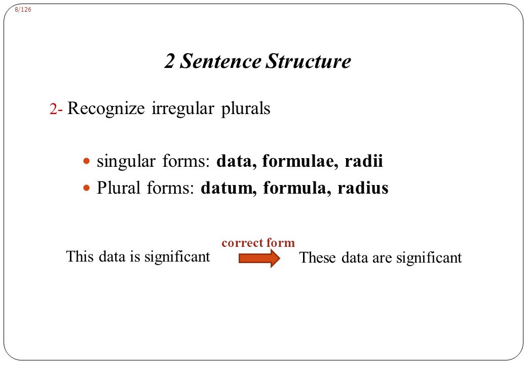 2 Sentence Structure