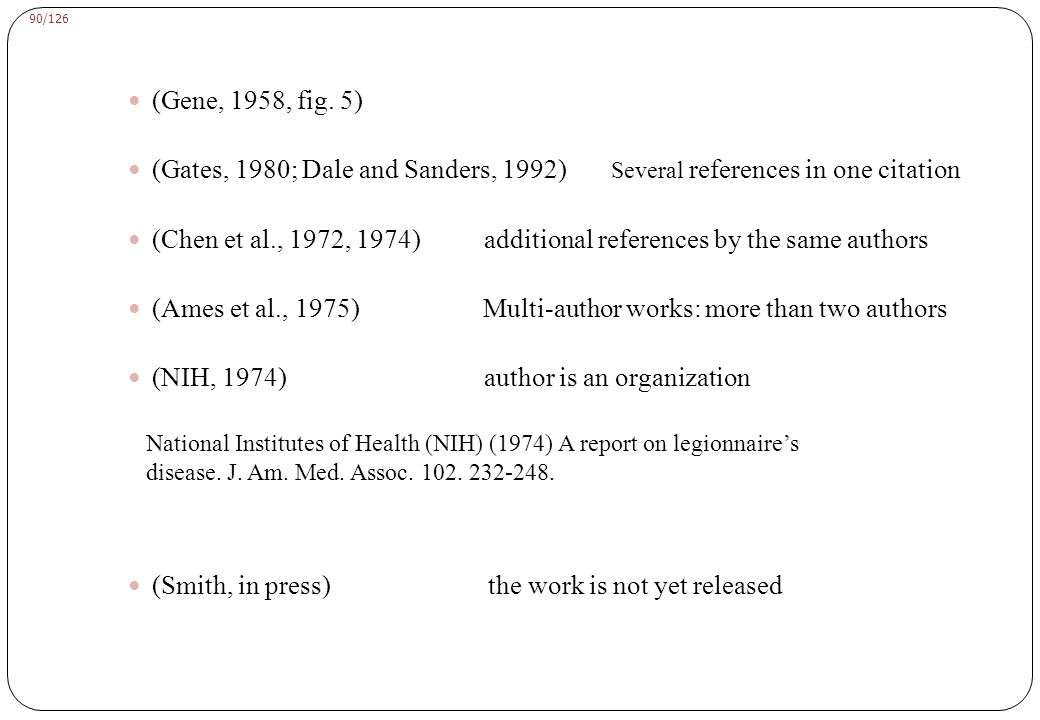 Reference List Chou, P. and Fasman, G. D. (1974). Biochemistry 13:222-245.