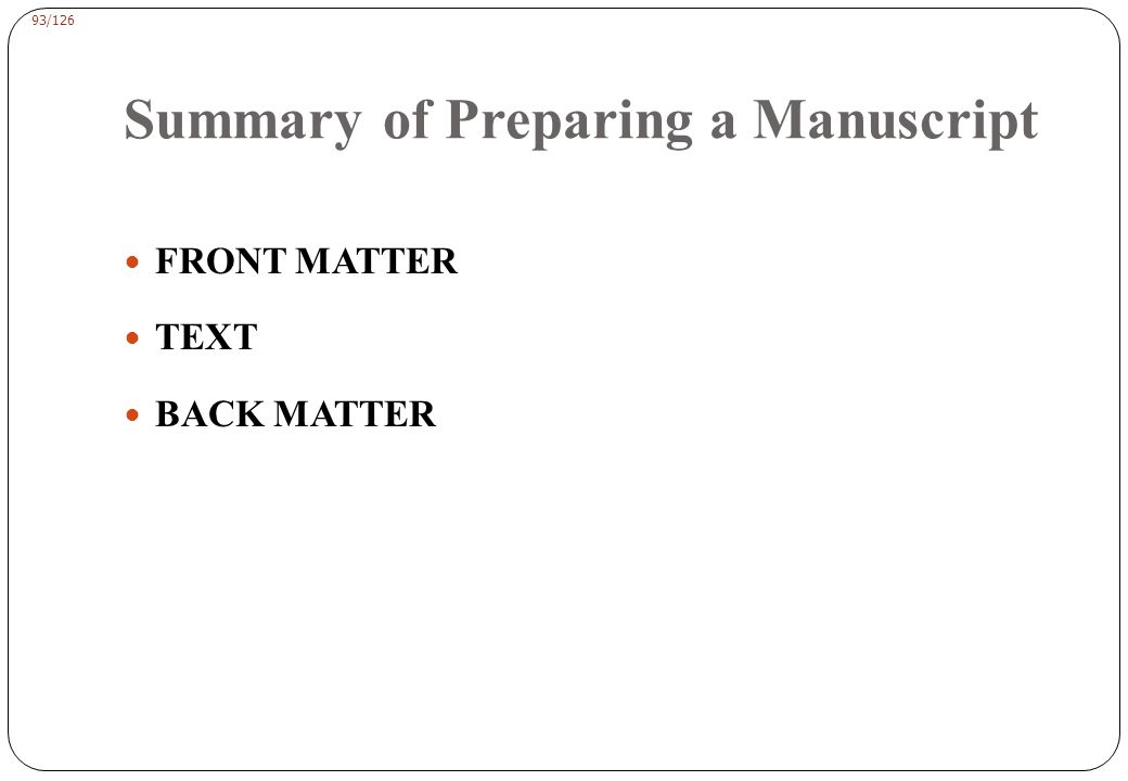 FRONT MATTER title page Authors and Affiliations abstract list of key