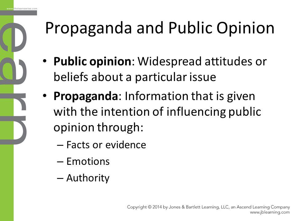 Propaganda and Public Opinion