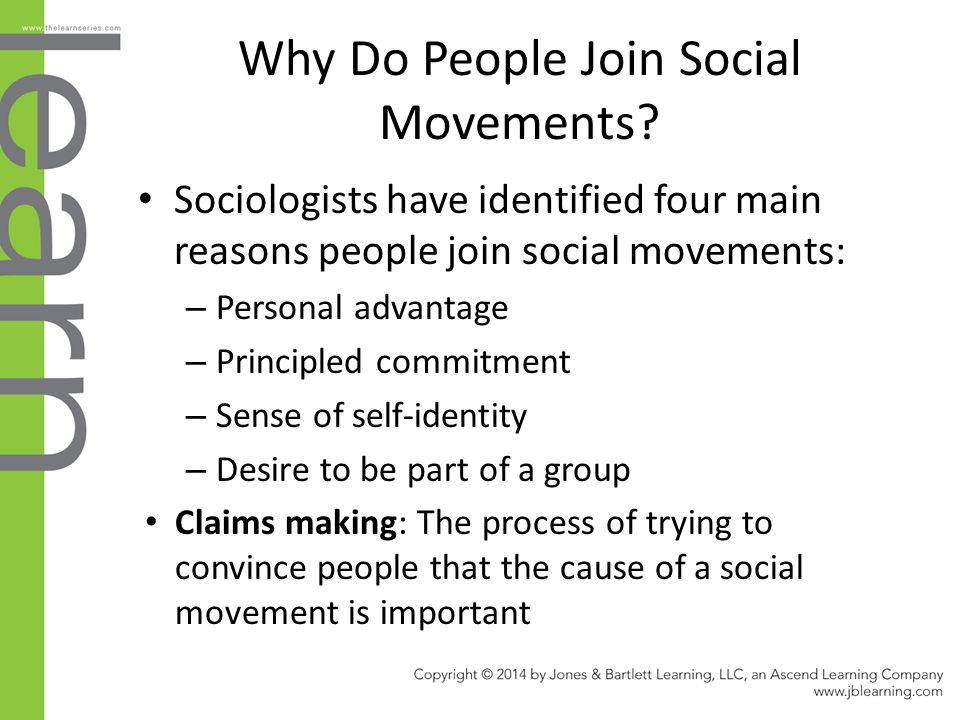 Why Do People Join Social Movements