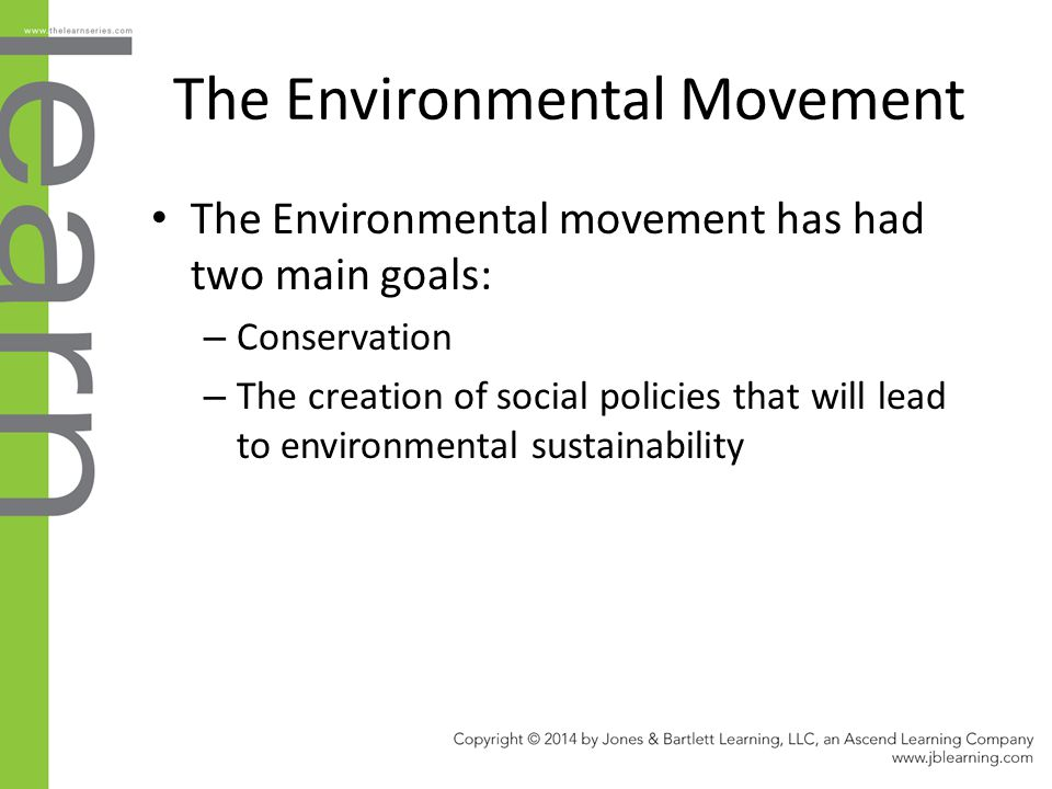 The Environmental Movement
