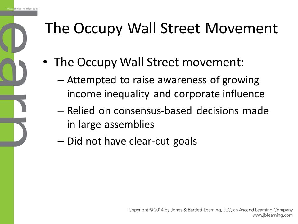 The Occupy Wall Street Movement