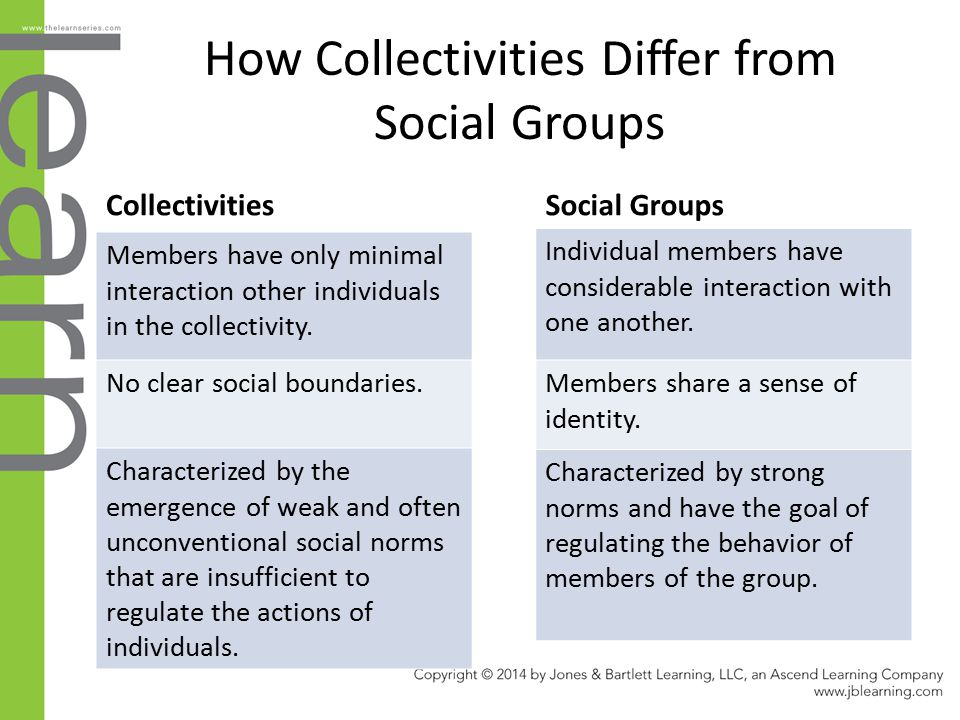 How Collectivities Differ from Social Groups