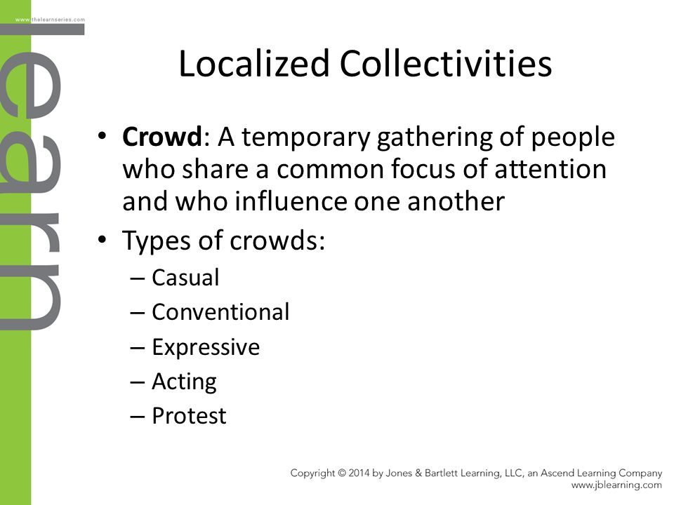 Localized Collectivities