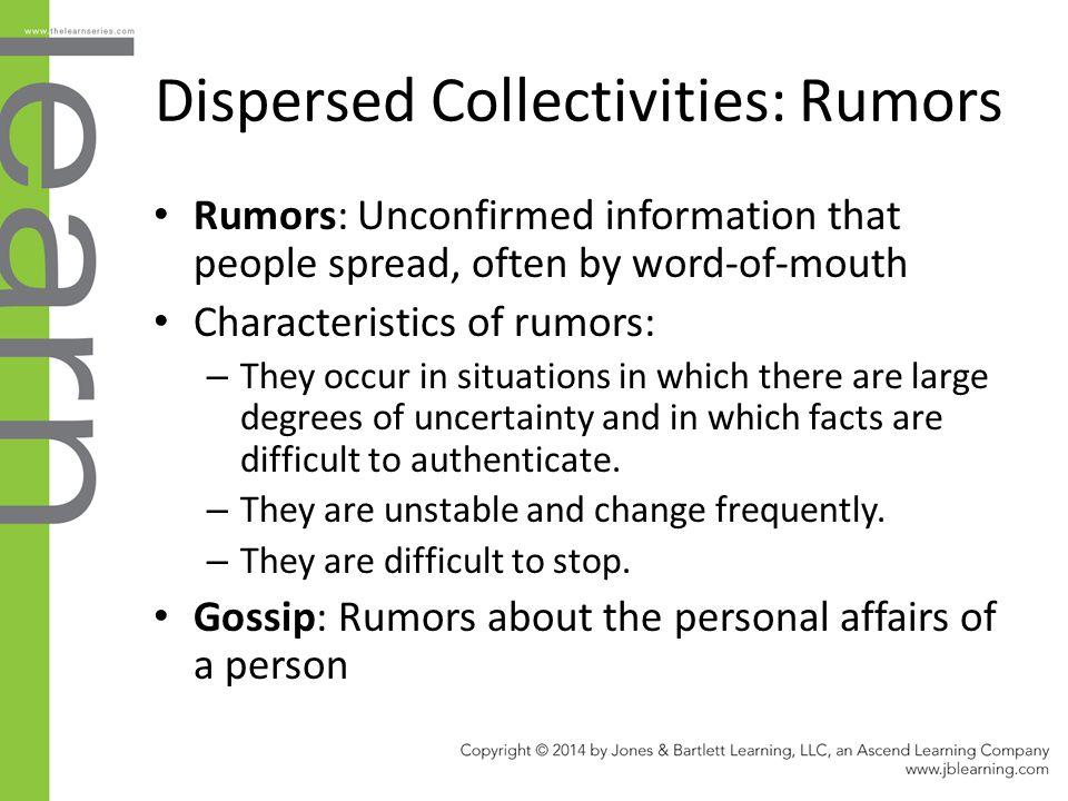 Dispersed Collectivities: Rumors