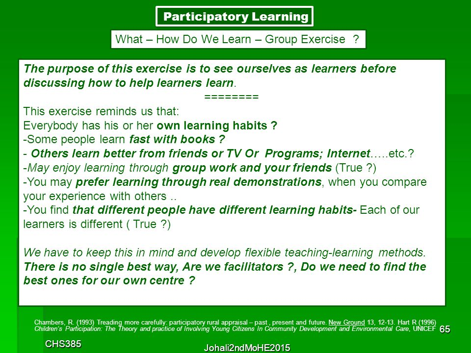 Participatory Learning