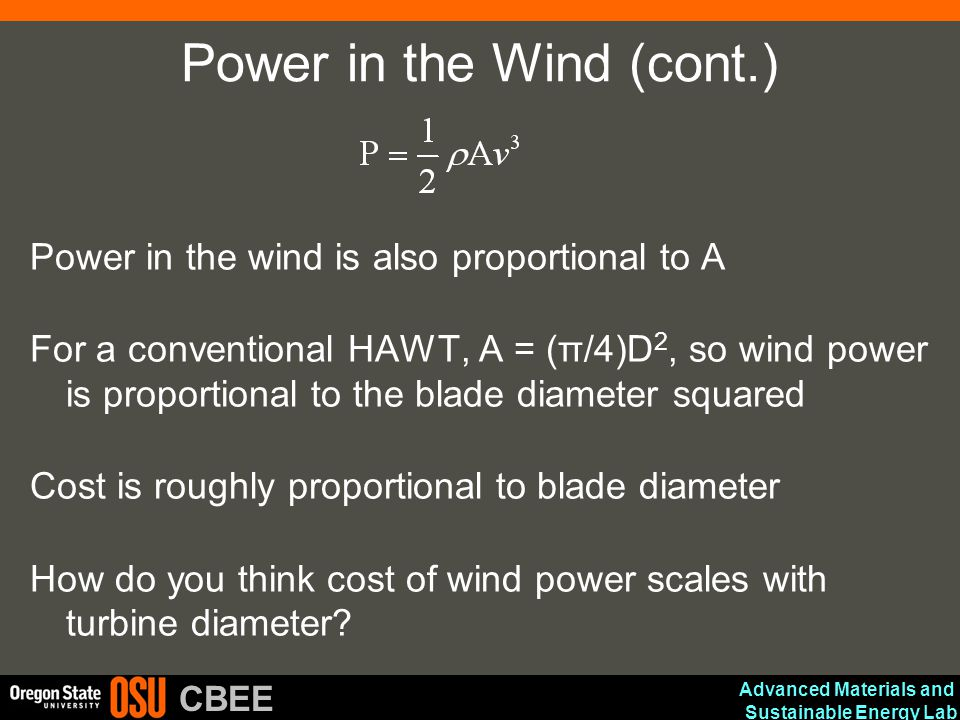 Power in the Wind (cont.)
