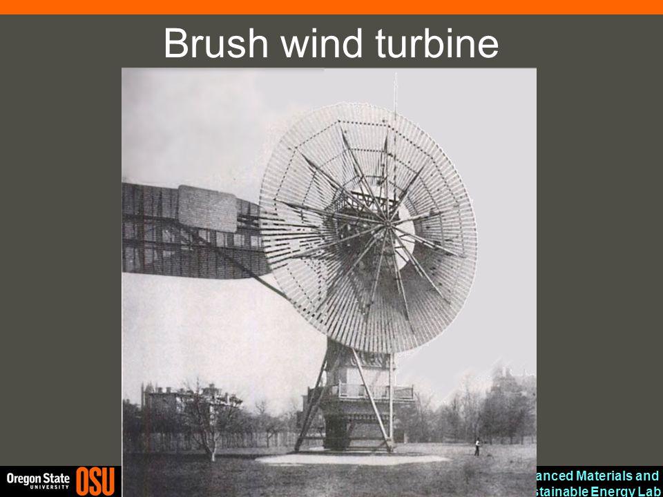 Brush wind turbine