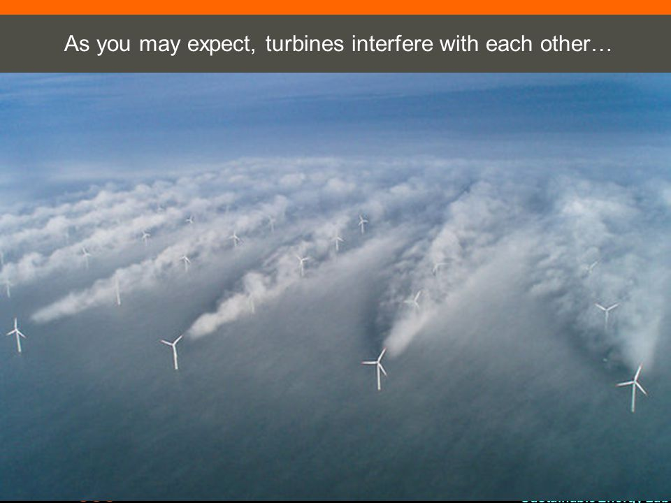 As you may expect, turbines interfere with each other…