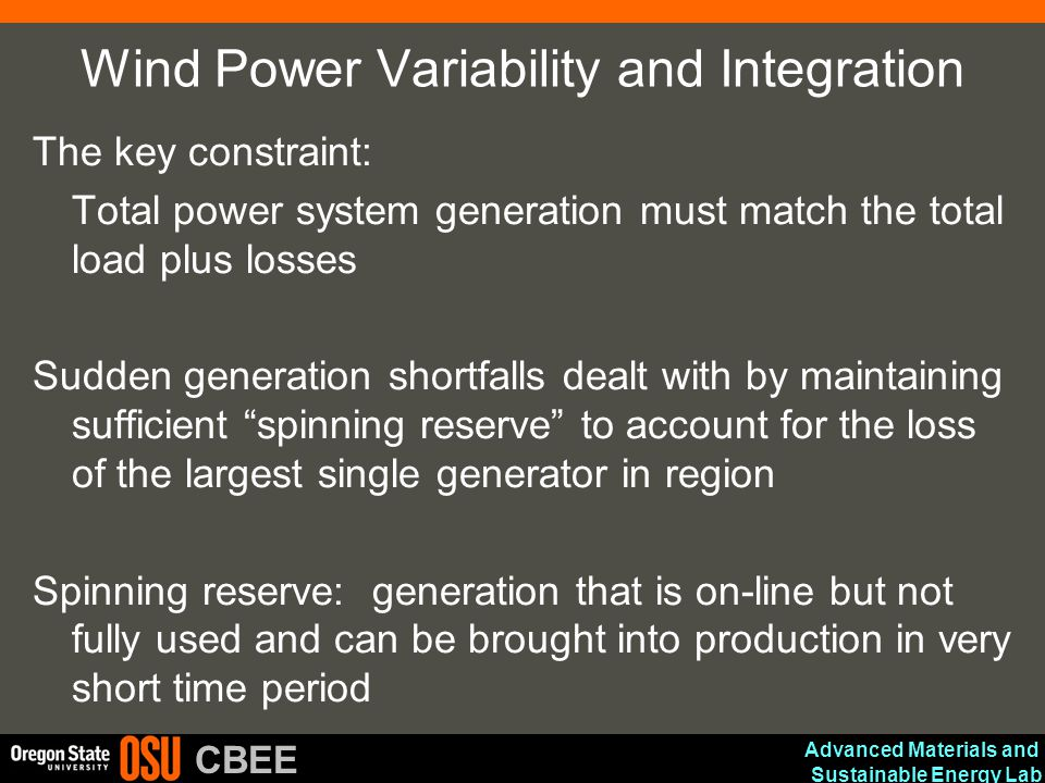 Wind Power Variability and Integration