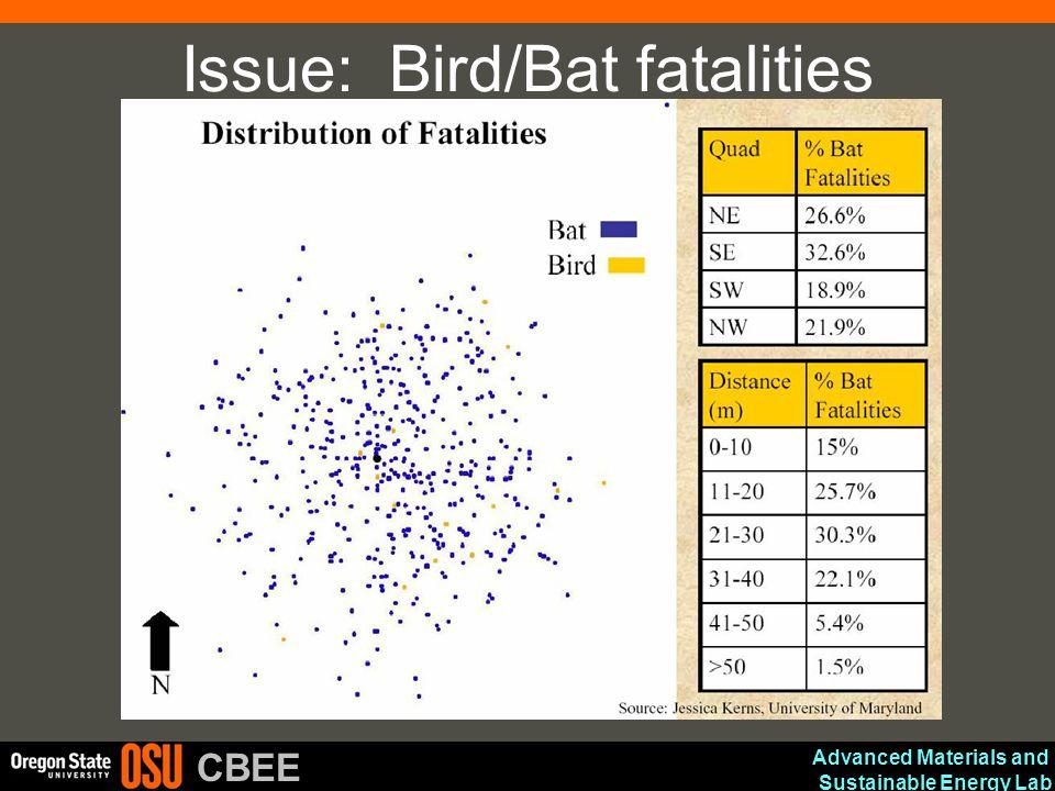 Issue: Bird/Bat fatalities