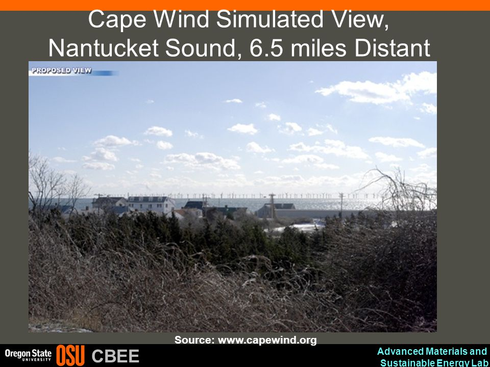 Cape Wind Simulated View, Nantucket Sound, 6.5 miles Distant