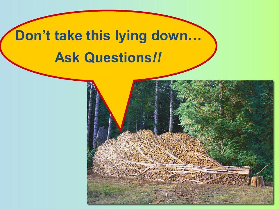 Don't take this lying down…