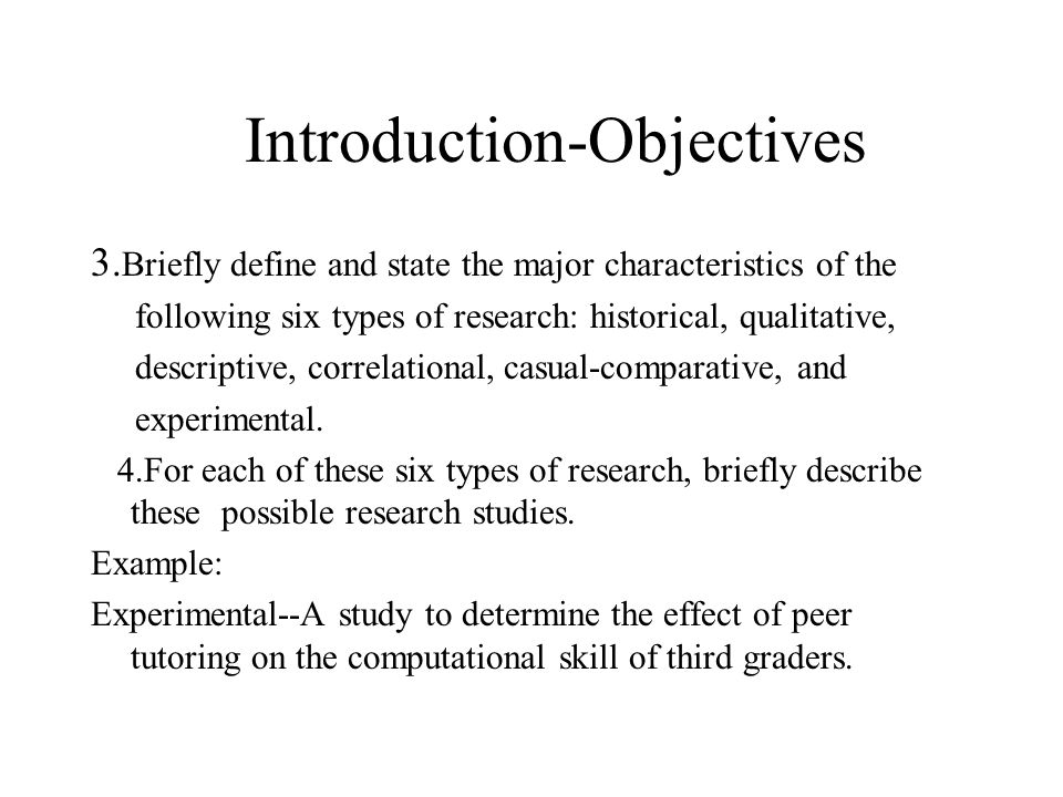 Introduction-Objectives