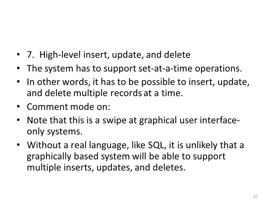 7. High-level insert, update, and delete