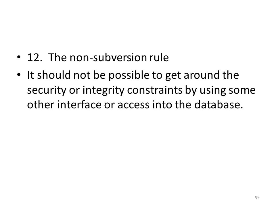 12. The non-subversion rule