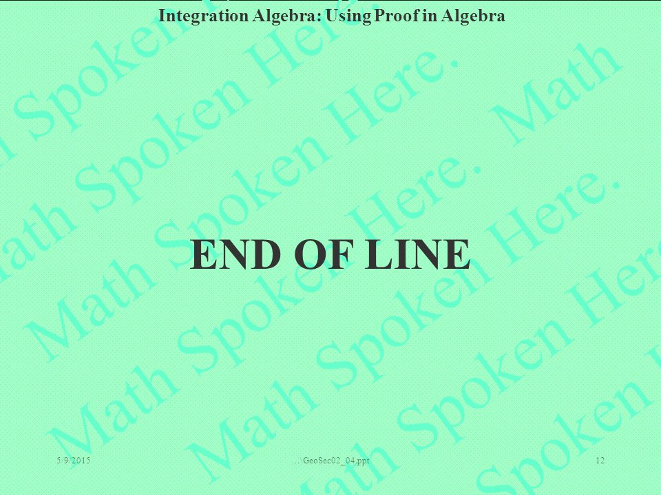END OF LINE 4/15/2017 …\GeoSec02_04.ppt