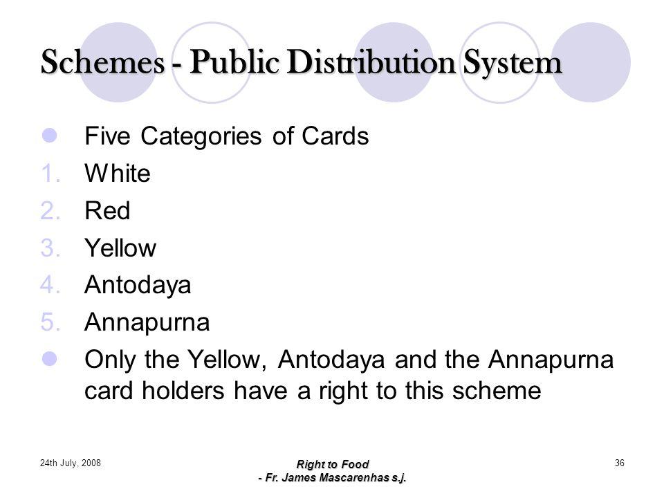 Schemes - Public Distribution System