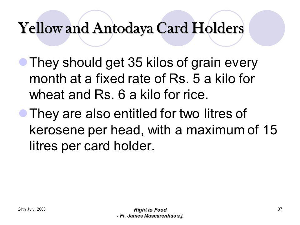 Yellow and Antodaya Card Holders
