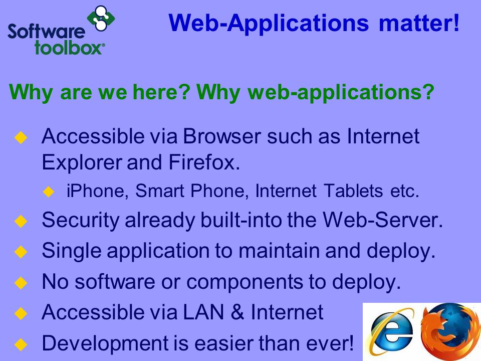 Web-Applications matter!