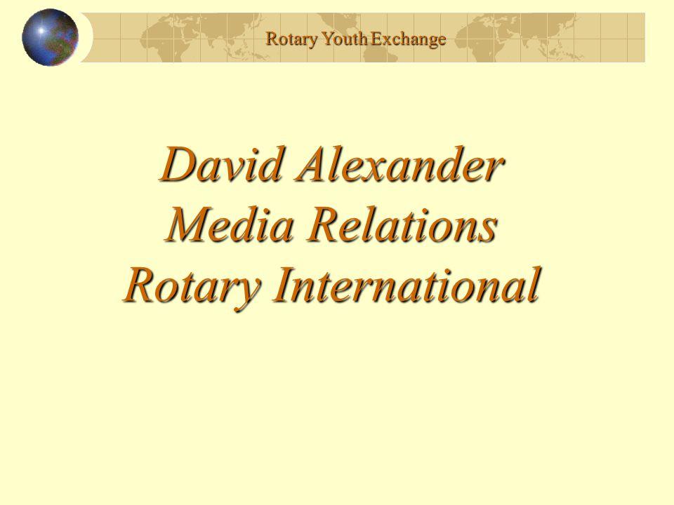 David Alexander Media Relations Rotary International