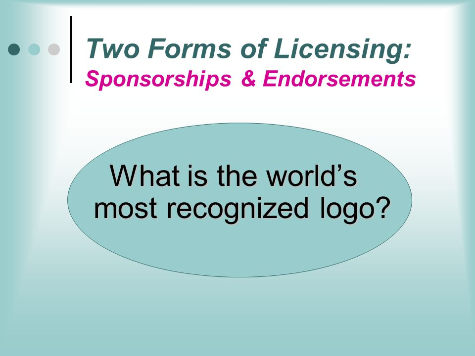 Two Forms of Licensing: Sponsorships & Endorsements
