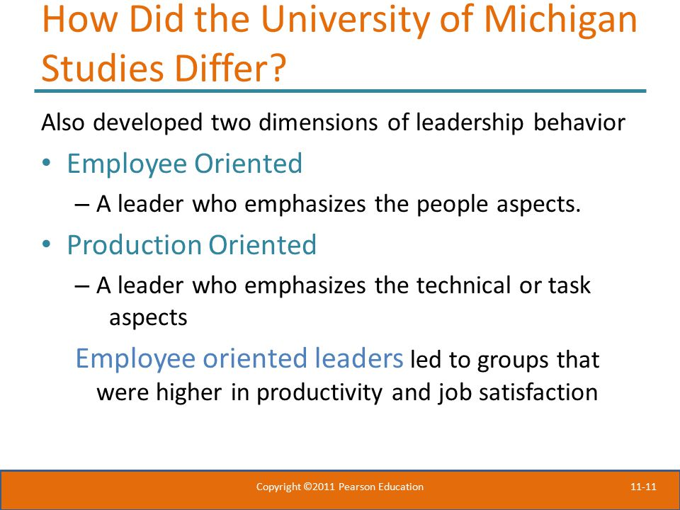 How Did the University of Michigan Studies Differ