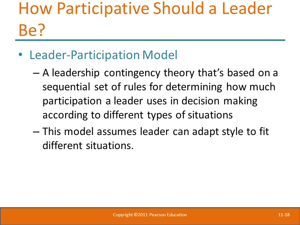 How Participative Should a Leader Be