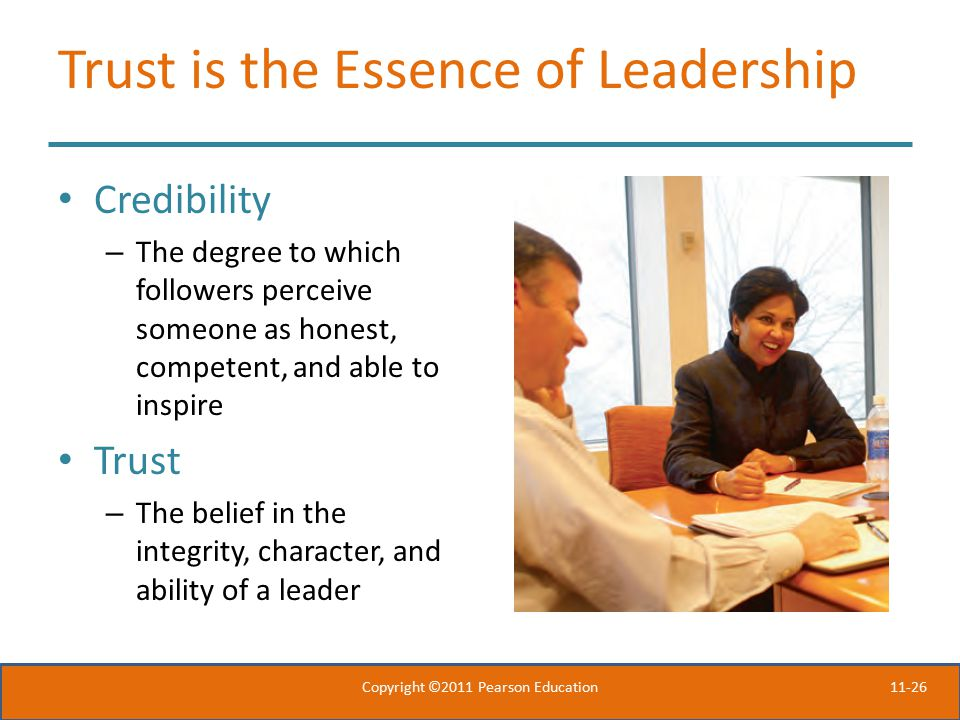 Trust is the Essence of Leadership