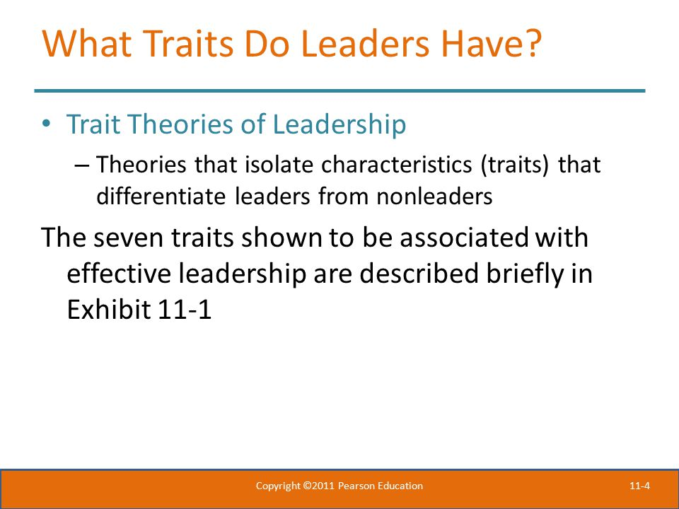 What Traits Do Leaders Have