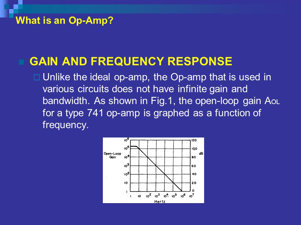 GAIN AND FREQUENCY RESPONSE