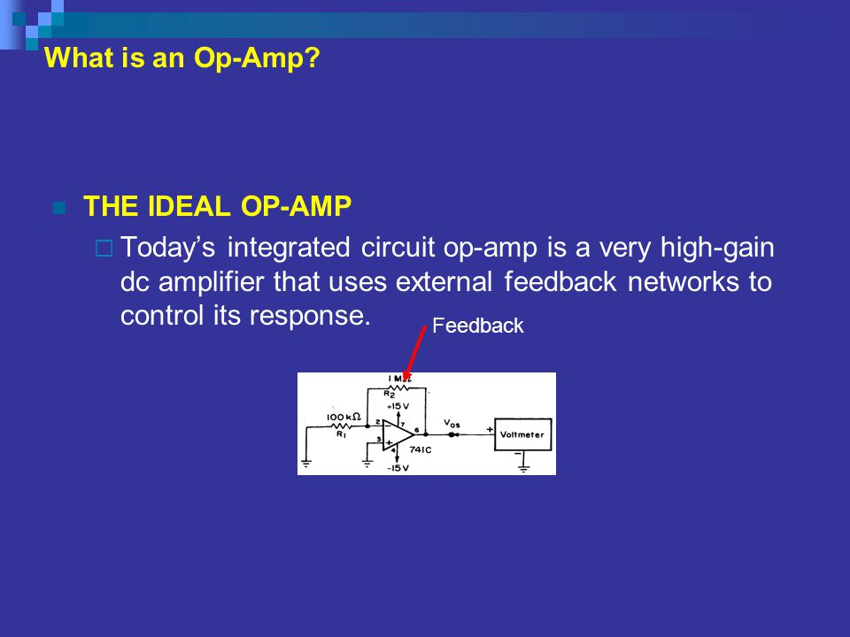 What is an Op-Amp THE IDEAL OP-AMP