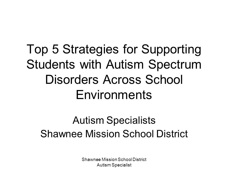 Autism Specialists Shawnee Mission School District