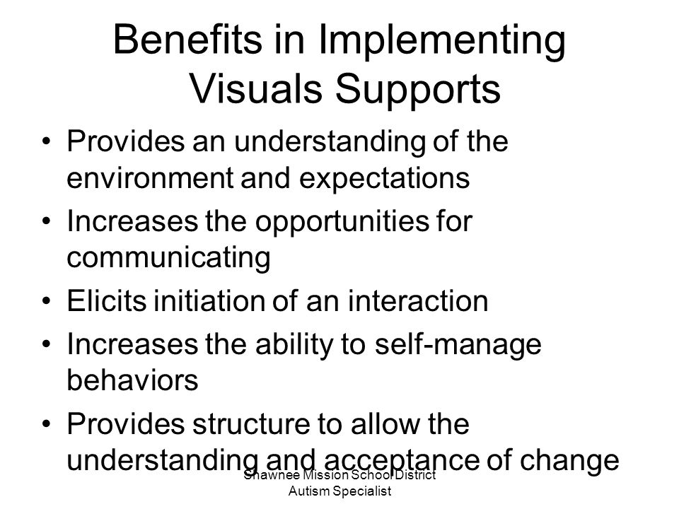 Benefits in Implementing Visuals Supports