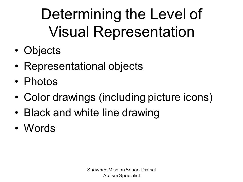 Determining the Level of Visual Representation