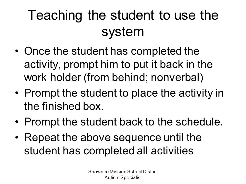 Teaching the student to use the system