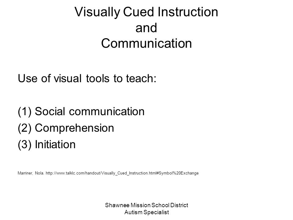 Visually Cued Instruction and Communication
