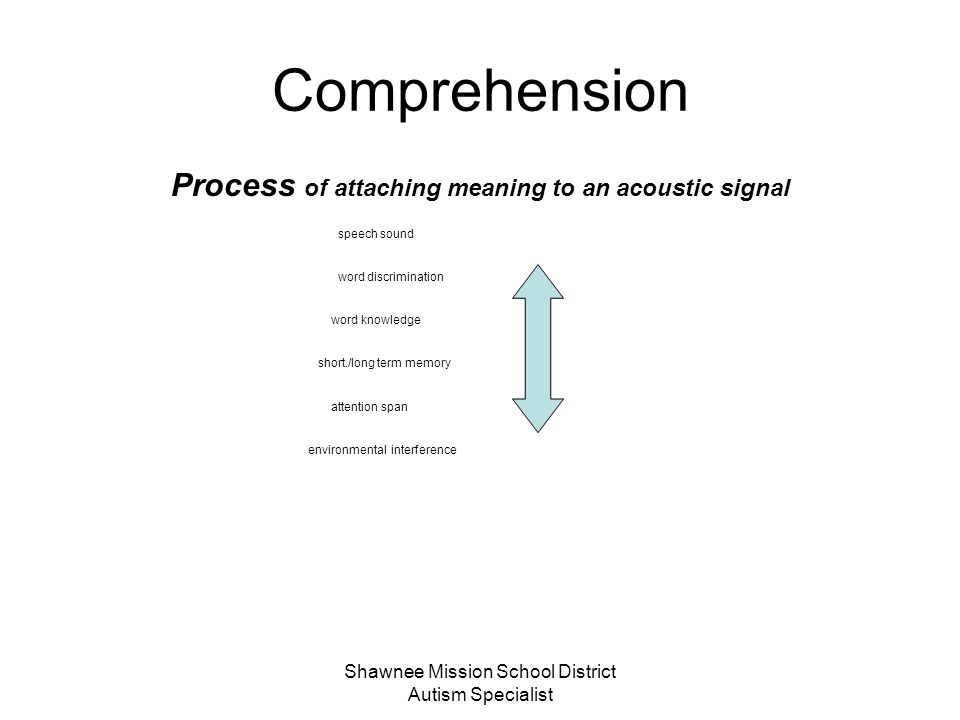 Process of attaching meaning to an acoustic signal