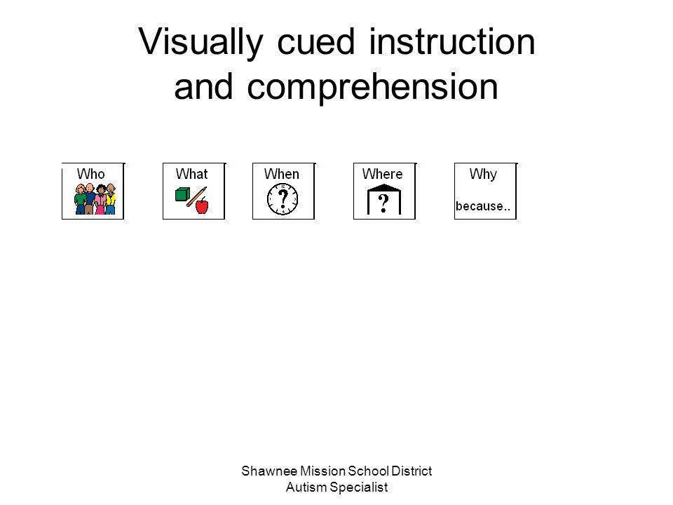 Visually cued instruction and comprehension