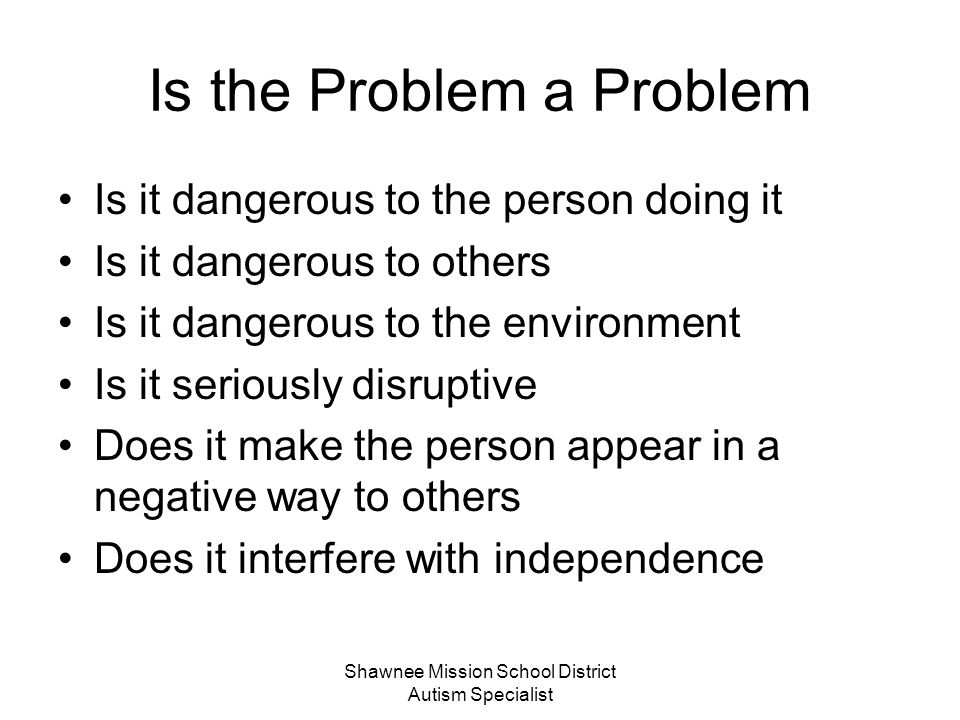 Is the Problem a Problem