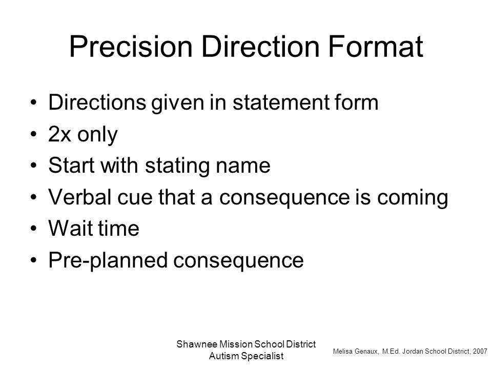 Precision Direction Format
