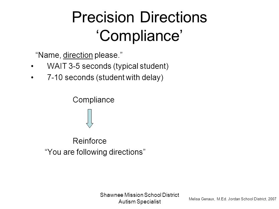 Precision Directions 'Compliance'