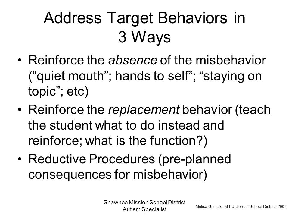 Address Target Behaviors in 3 Ways