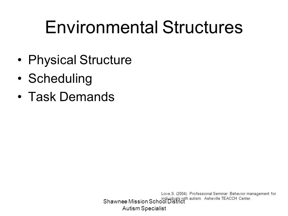 Environmental Structures