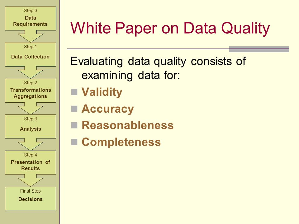 White Paper on Data Quality