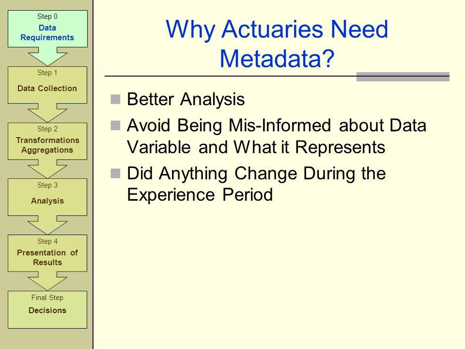 Why Actuaries Need Metadata