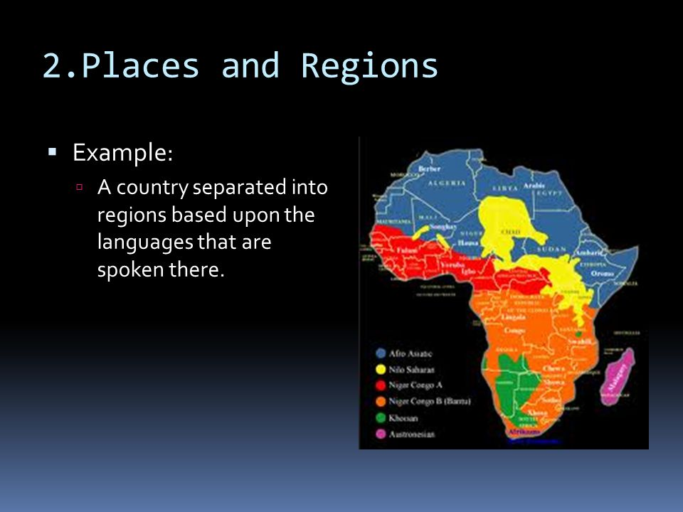 2.Places and Regions Example: